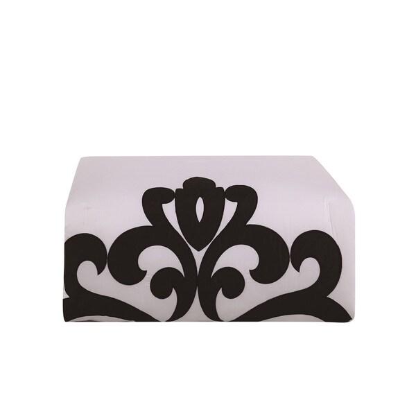 9 Piece Empress 100/% Cotton Black//White Comforter Set Queen