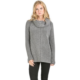 Ply Cashmere Women's Two-tone Textured Cashmere Sweater