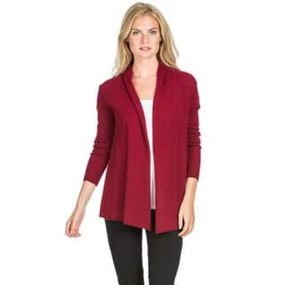 Ply Cashmere Women's Drape Front Cashmere Cardigan|https://ak1.ostkcdn.com/images/products/11211003/P18198944.jpg?impolicy=medium