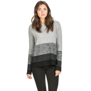 Ply Cashmere Women's Marled Stripe Cashmere Sweater