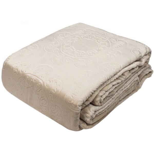 Hot Press Patented Italian Tile Velvet Plush Blankets