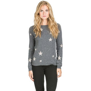 Ply Cashmere Women's Star Pattern Cashmere Sweater