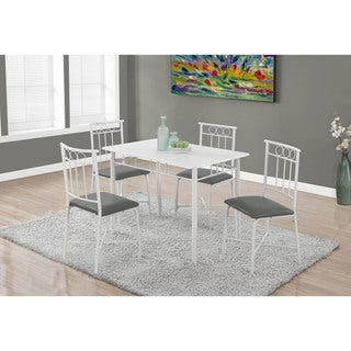 Dining Set-5-Piece Set/White Metal And Top