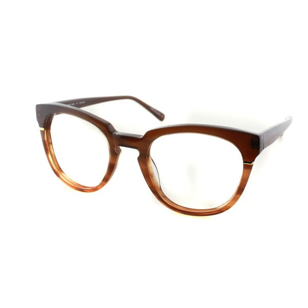 ed9035f93e5 Cynthia Rowley Eyewear CR5027 No. 05 Honey Tortoise Round Plastic Eyeglasses