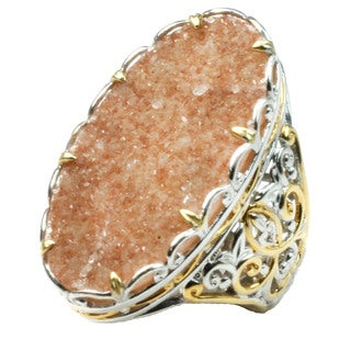 One-of-a-kind Michael Valitutti Citrine Druzy Ring