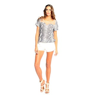 Sara Boo Women's Animal Print Mesh Top