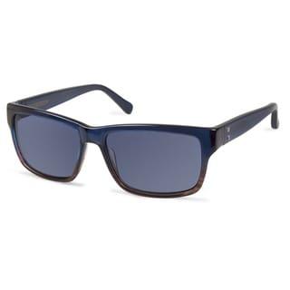 Cynthia Rowley Eyewear CR6013 No. 28 Teal Fade Round Plastic Sunglasses