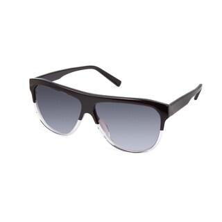 Cynthia Rowley Eyewear CR 6019S No. 15 Black/Clear Aviator Plastic Sunglasses
