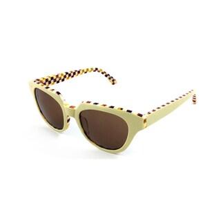Cynthia Rowley Eyewear CR5012S No. 29 LTD Ivory Cat-Eye Plastic Sunglasses
