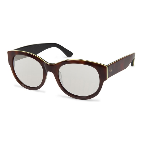 Cynthia Rowley Eyewear CR5021 No. 59 Tortoise Round Plastic Sunglasses