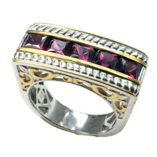 One-of-a-kind Michael Valitutti Rhodolite Garnet Men's Ring