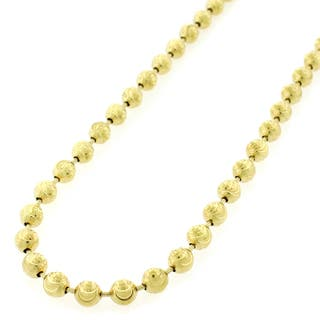 .925 Sterling Silver 5mm Moon-cut Gold Plated Chain Necklace|https://ak1.ostkcdn.com/images/products/11211139/P18199060.jpg?impolicy=medium