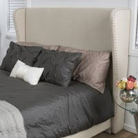 Christopher Knight Home Waterville Fully Upholstered Queen Fabric Wingback Headboard