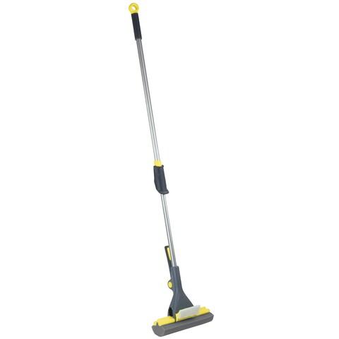 Casabella Height Adjustable Roller Mop with Mop Head Refill