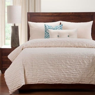 Siscovers Bamboo Pattern Matelasse 6-piece Cotton Duvet Cover Set with Duvet Insert