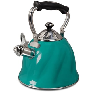 Mr. Coffee Alderton Turquoise Whistling Tea Kettle