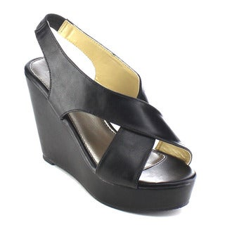 Beston AB30 Women's Criss-Cross Wedges