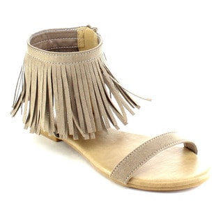 Beston AB47 Women's Fringe Sandals