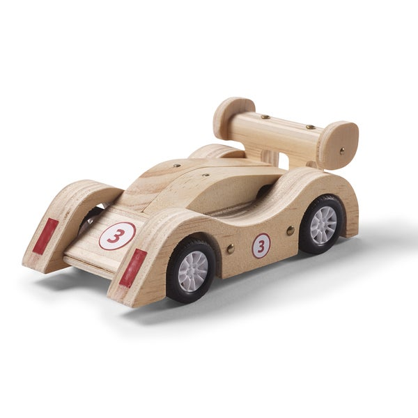 Red Tool Box DIY Wood Sports Car Building Kit