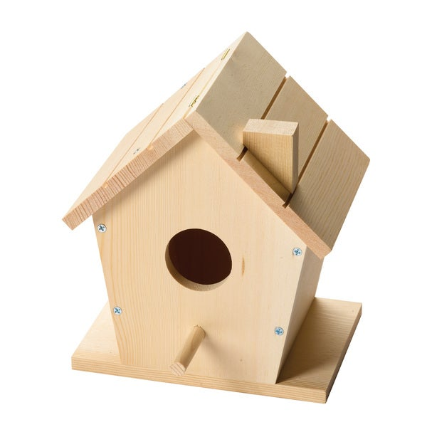 Red Tool Box DIY Wood Birdhouse Building Kit