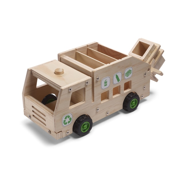 Red Tool Box DIY Wood Recycling Truck Building Kit
