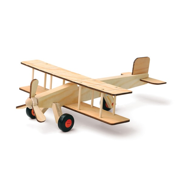 Red Tool Box DIY Wood Airplane Building Kit