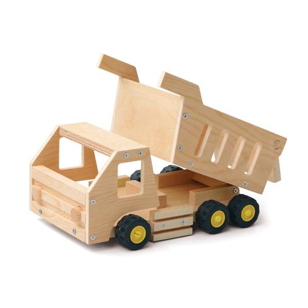 Red Tool Box DIY Wood Dump Truck Building Kit