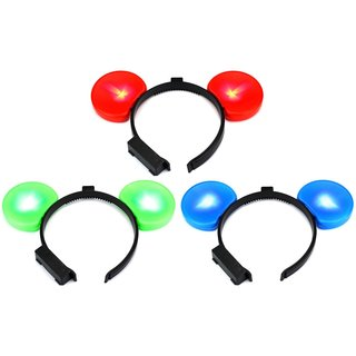 Velocity Toys Flashing LED Light-up Party Favor Toy Mouse Ears (Set of 3)