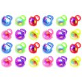 Velocity Toys Flashing LED Light-up Multicolor Party Favor Squishy Toy Rings (Set of 24) - Blue