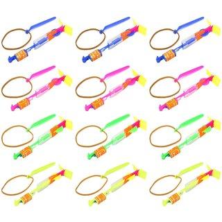 Velocity Toys LED Light-up Sling Shot Flare Arrow Party Favor Toy Flyers (Set of 12)