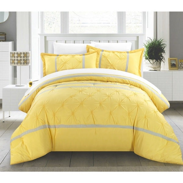 Chic Home Veronica Yellow 12 Piece Bed In A Bag Comforter Set