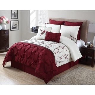 VCNY Lydia Red 8-Piece Comforter Set