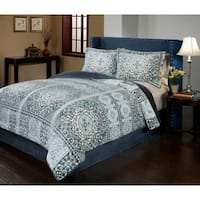 Azura Velvet Plush Print Comforter Set