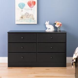 Bella 6 Drawer Dresser, Black