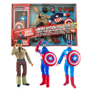 Diamond Select Toys Marvel Limited Edition Captain America 8-inch Retro Action Figure Set