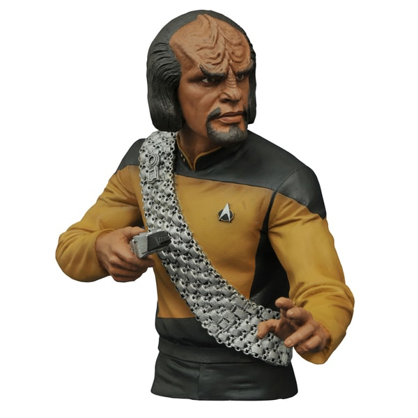 Diamond Select Toys Star Trek The Next Generation Worf Bust Bank