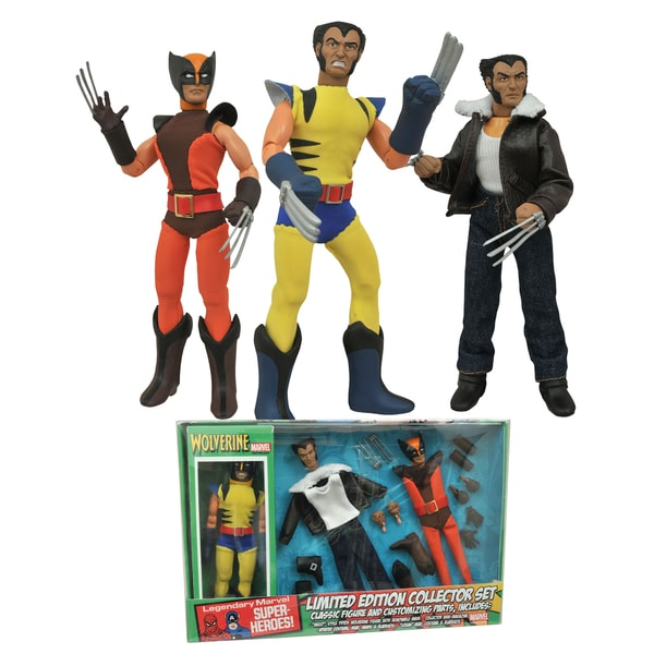 Diamond Select Toys Marvel Wolverine 8 -inch Retro Action Figure Set