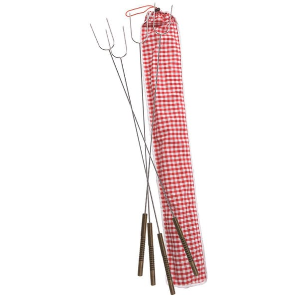 Hot Dog Fork Set with Bag (Set of 4)