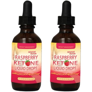 Raspberry Ketones Drops 300mg Rapid Release with Green Tea and African Mango
