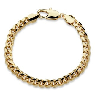 PalmBeach Goldtone Men's 10.5mm Curb Link Bracelet