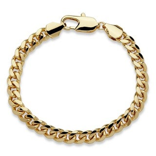 Goldtone Men's 10.5mm Curb Link Bracelet