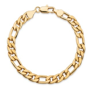 PalmBeach Goldplated Men's Figaro Link 6.5mm Chain Bracelet