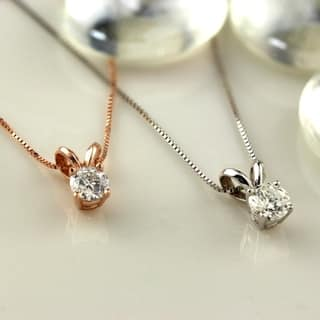 Diamond necklaces for less overstock auriya 14k gold 13ct tdw round solitaire diamond necklace aloadofball Choice Image