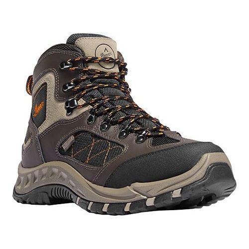 5dc5b26f23a Men's Danner TrailTrek 4.5in Hiking Boot Brown/Orange Nubuck/Nylon