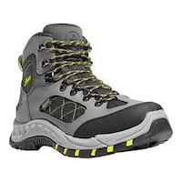Men's Danner TrailTrek 4.5in Hiking Boot Gray/Yellow Nubuck/Nylon