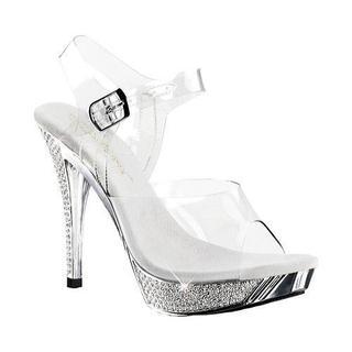 Women's Fabulicious Elegant 408 Clear/Silver Chrome