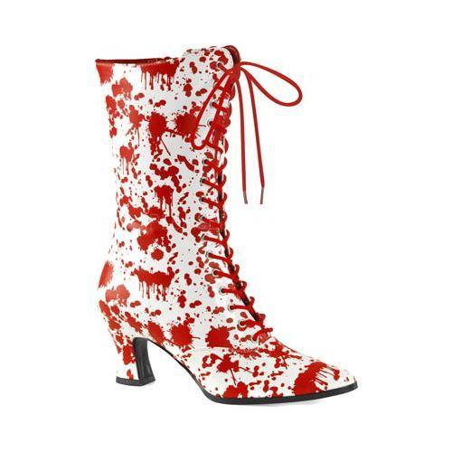 Women's Funtasma Victorian 120BL Mid Calf Boot White/Red Patent - Free  Shipping Today - Overstock.com - 18199765