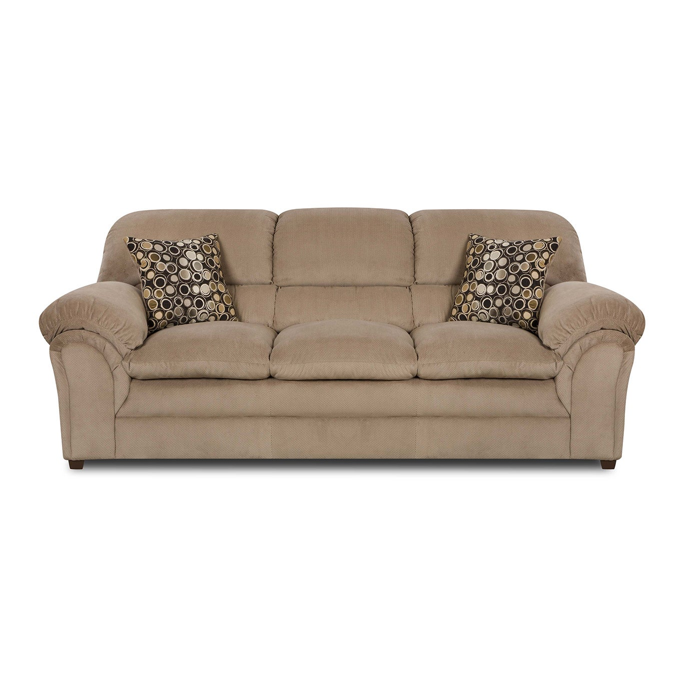 Simmons Upholstery Harper Cocoa Sofa (Sofa), Brown (Fabric)
