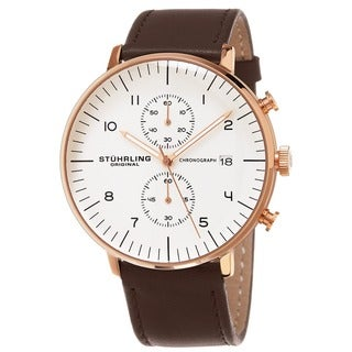 Stuhrling Original Men's Monaco Quartz Chronograph Watch with Leather Strap|https://ak1.ostkcdn.com/images/products/11319098/P18296728.jpg?_ostk_perf_=percv&impolicy=medium