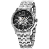 Stuhrling Original Men's Atrium Automatic Skeleton Stainless Steel Bracelet Watch